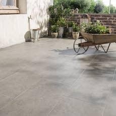 carrelage sol gris blanc effet terre cuite villa x l. Black Bedroom Furniture Sets. Home Design Ideas
