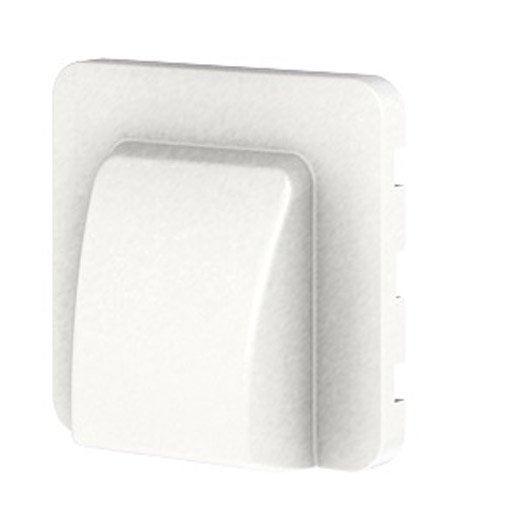 cache sortie de c ble cosy lexman blanc blanc n 0 mat leroy merlin. Black Bedroom Furniture Sets. Home Design Ideas