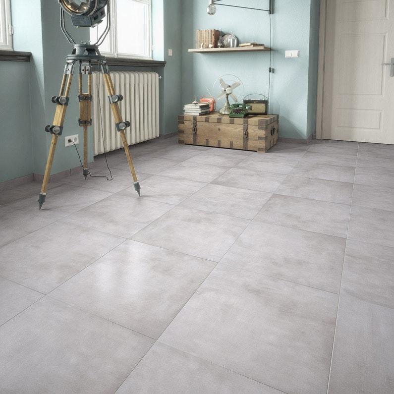 Carrelage sol et mur gris clair effet pierre Raison l.61.5 x L.61.5 ... 8bc8610e6a65