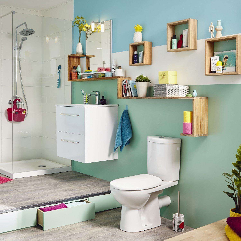 Tout Pour La Salle De Bain tout ranger sur le mur de la salle de bains | leroy merlin