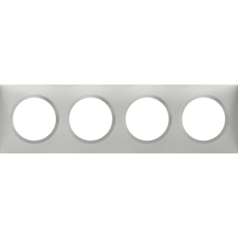 Plaque Quadruple Dooxie Legrand Aluminium