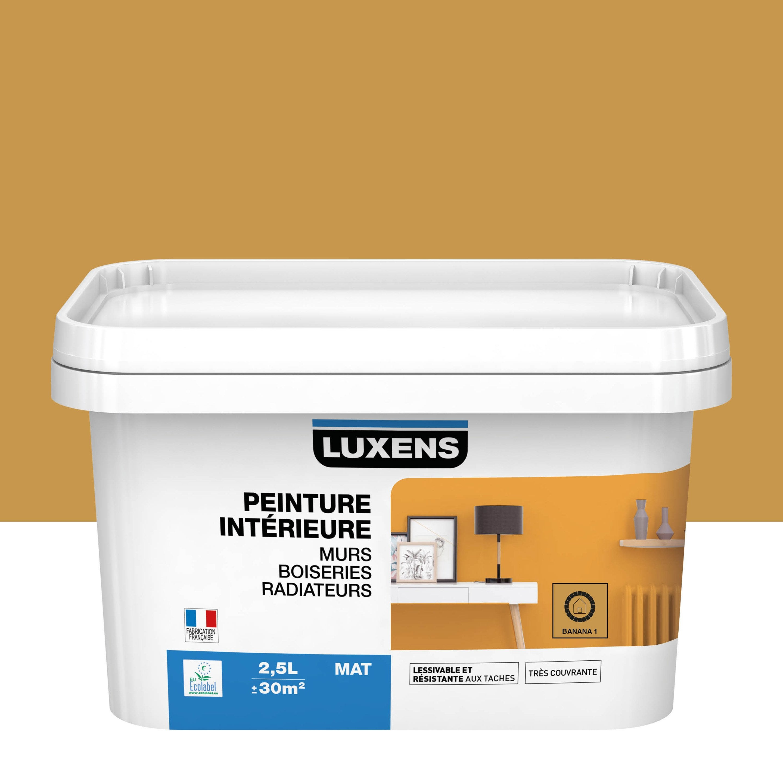 Peinture mur, boiserie, radiateur Multisupports LUXENS banana 1 mat 2.5 l
