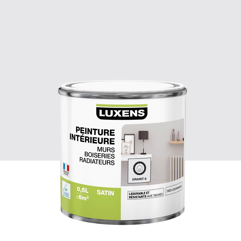 Peinture mur, boiserie, radiateur intérieur Multisupports LUXENS, granit 6, sati
