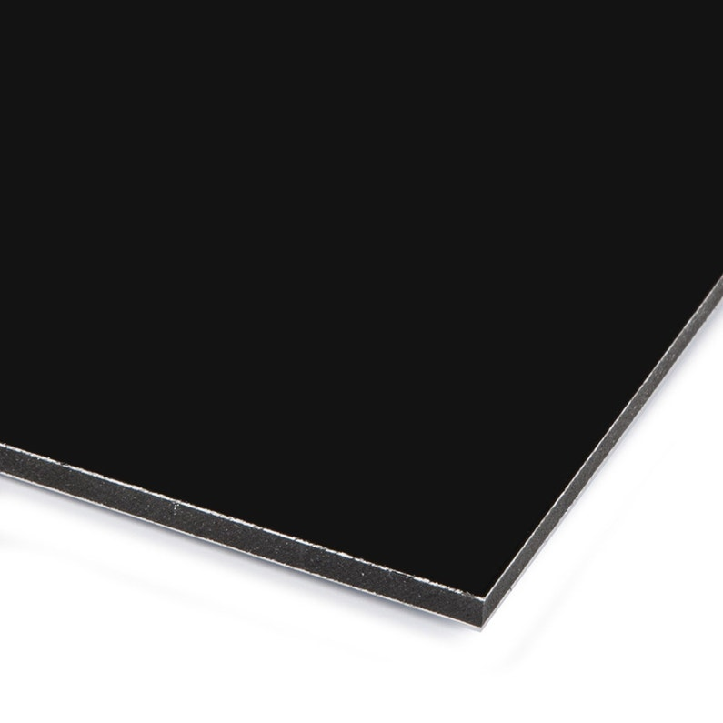 Plaque Composite Aluminium 3 Mm Noir Lisse L 60 X 50 Cm Leroy Merlin