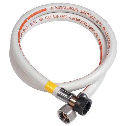 Le Gaz Butane dedans tuyau caoutchouc gaz bp validité 10 ans garantie 10 ans, h.200 cm