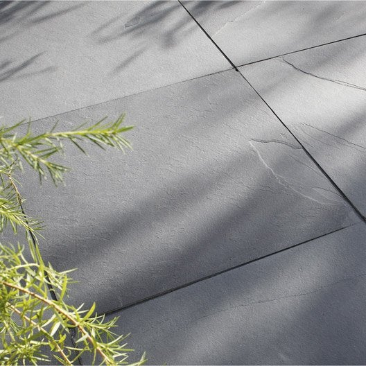 Dalle En Ardoise Gaya, Noir L.60 X L.60 Cm Ep.10 Mm | Leroy Merlin