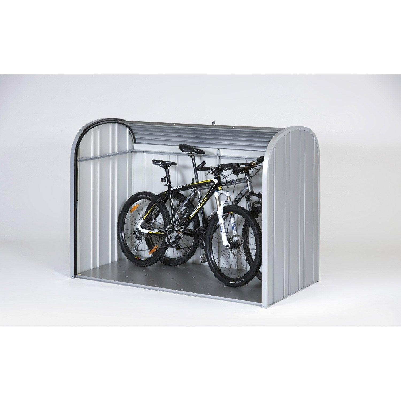 Abri à vélo métal Store max argent métallique, l.190 x H.136 x P.97 cm BIOHORT