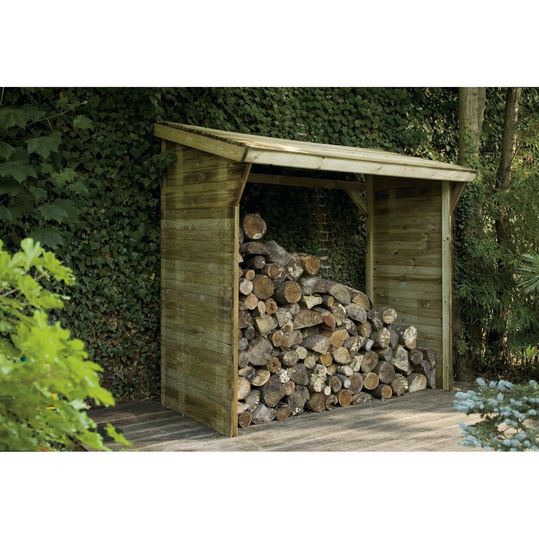 Bûcher bois Memphis naturel, l.221 x H.203 x P.114.5 cm FOREST STYLE