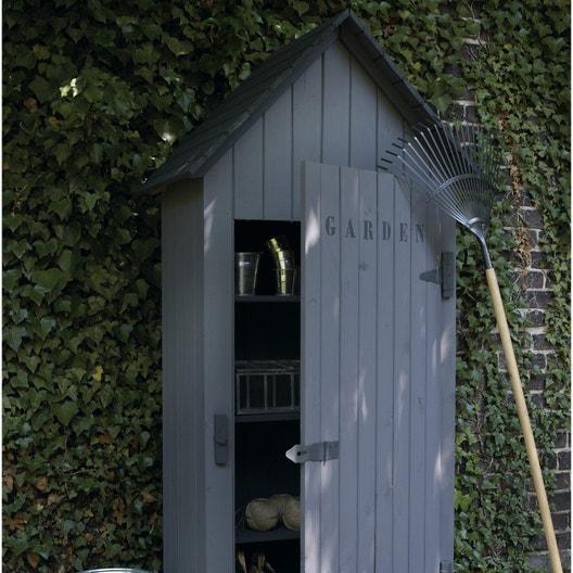 Armoire de jardin bois Wissant naturelle, l.78 x H.190 x P.44 cm ...
