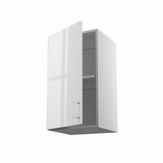 Porte de meubles de cuisine meuble de cuisine haut blanc for Meuble haut porte relevante