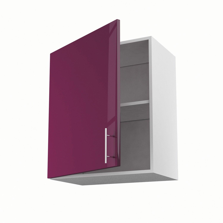 meuble de cuisine haut violet 1 porte rio x x p On meuble 70 cm de haut