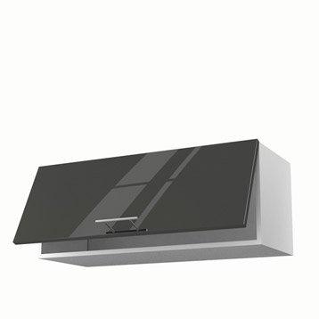meuble de cuisine haut gris porte rio h x l x with meuble haut cuisine profondeur 30 cm. Black Bedroom Furniture Sets. Home Design Ideas