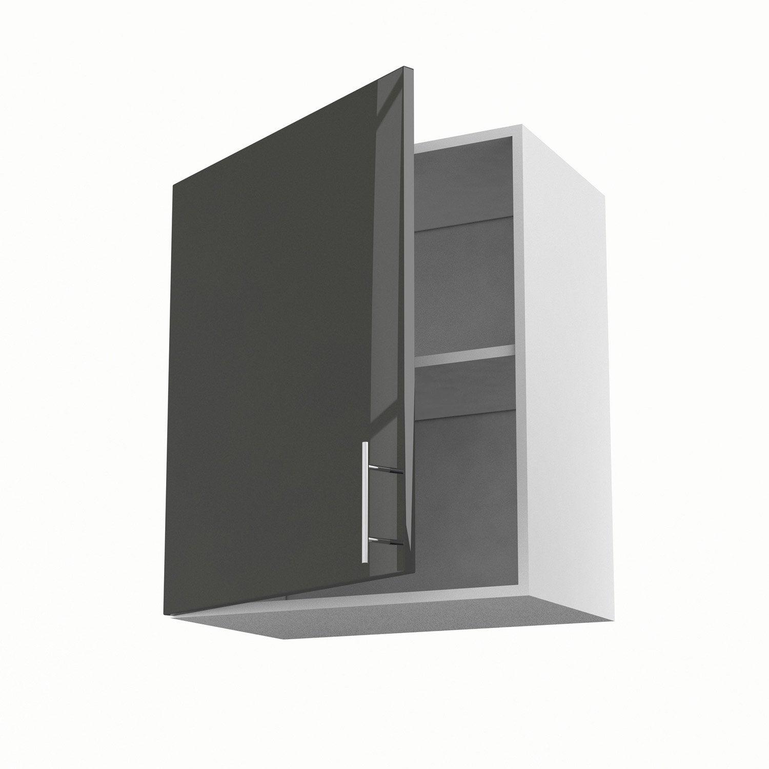 meuble de cuisine haut gris 1 porte rio x x cm leroy merlin. Black Bedroom Furniture Sets. Home Design Ideas