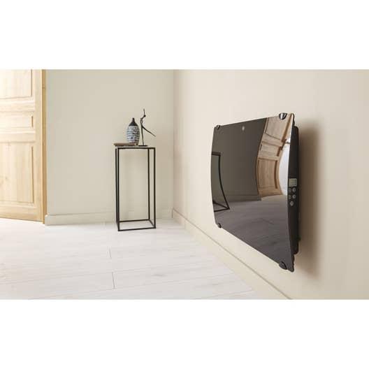radiateur lectrique rayonnement deltathermie verre galbe 1000 w leroy merlin. Black Bedroom Furniture Sets. Home Design Ideas