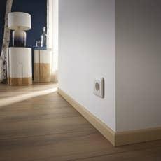 Plinthe pin sans noeud arrondie 9 x 67 mm l 2 m leroy - Surplinthe bois sur plinthe carrelage ...