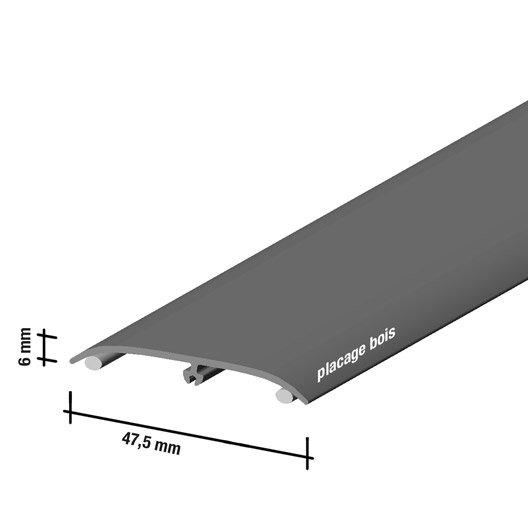 barre de seuil pour sol stratifi ch teau cm x mm leroy merlin. Black Bedroom Furniture Sets. Home Design Ideas