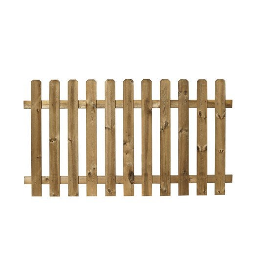 Barri re bois merens marron x cm leroy merlin for Barriere exterieur en bois