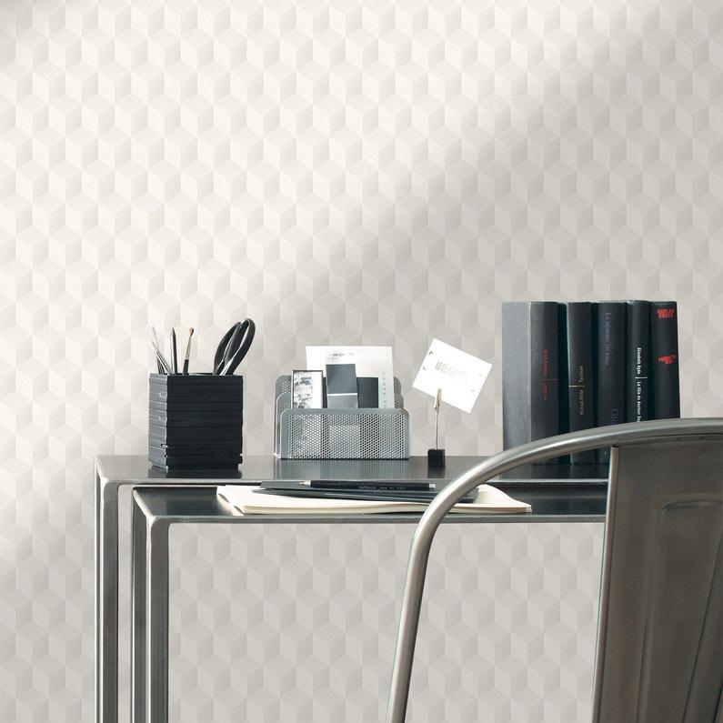 Papier Peint 3d Blanc Design