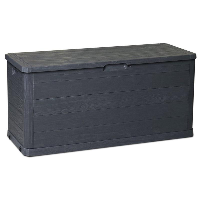 Coffre de jardin résine Woody\'s 280 litres gris anthracite, l.117 x ...
