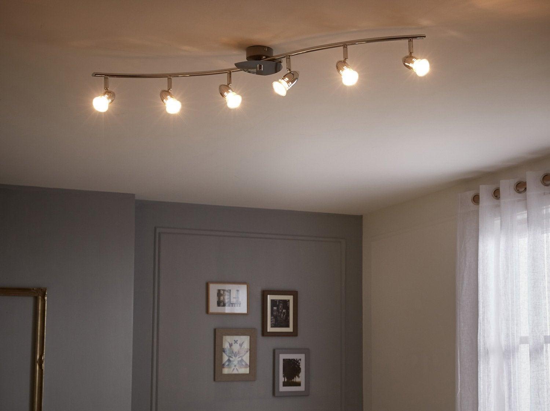 rampe 2 spots moderne prodo 2 xg9 chrome eglo leroy merlin. Black Bedroom Furniture Sets. Home Design Ideas