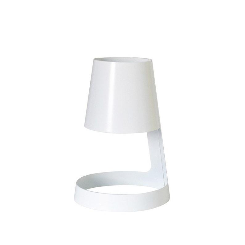 Pied De Lampe I Cone Métal Blanc Blanc N0 10 Cm Inspire
