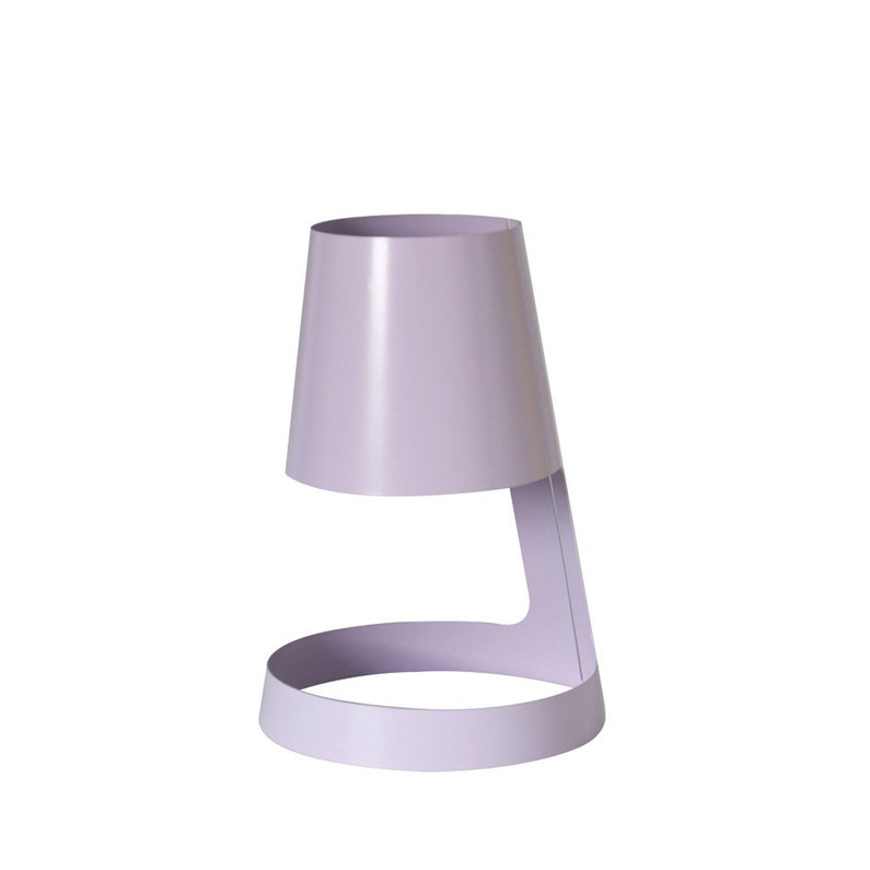 Pied De Lampe I Cone Métal Violet 10 Cm Inspire