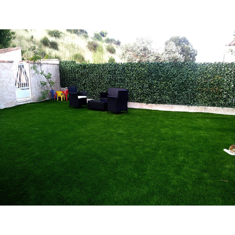 haie artificielle poly thyl ne laurus vert h 5 cm x. Black Bedroom Furniture Sets. Home Design Ideas