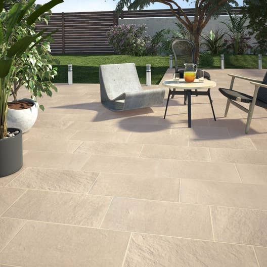 carrelage sol beige fonc aspect pierre lazy x cm leroy merlin. Black Bedroom Furniture Sets. Home Design Ideas