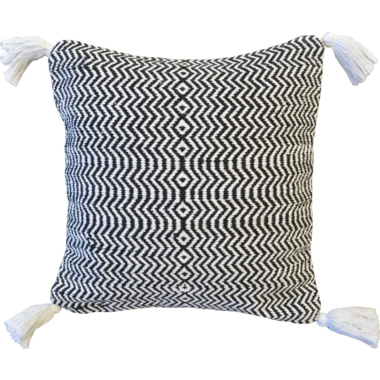 Coussin Ooljee INSPIRE, blanc / noir l.45 x H.45 cm