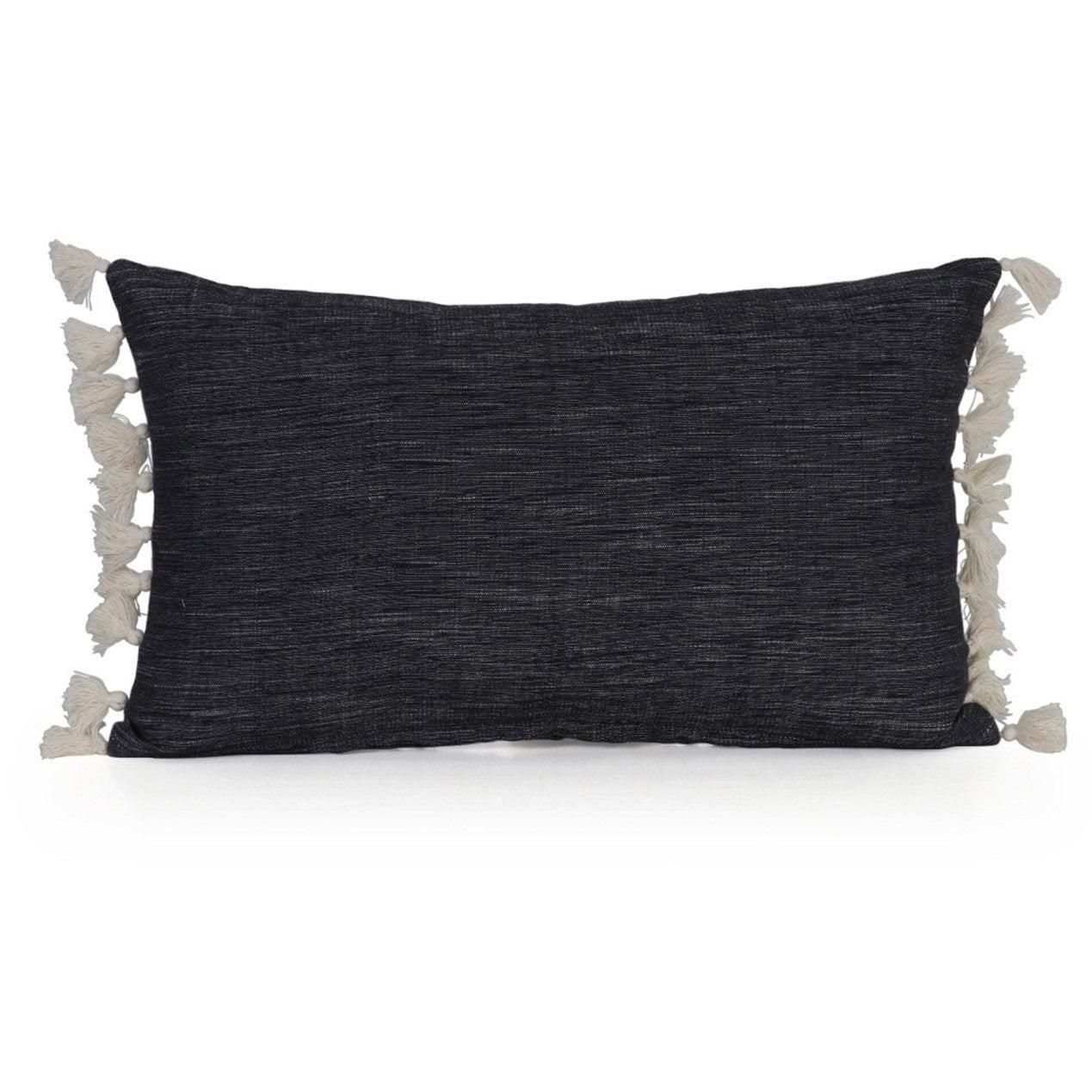 Coussin Chino INSPIRE, noir l.50 x H.30 cm