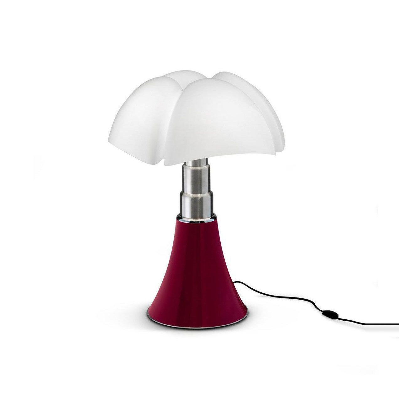 Lampe design Mini Pipistrello rouge, ampoule LED integrée, H.35cm