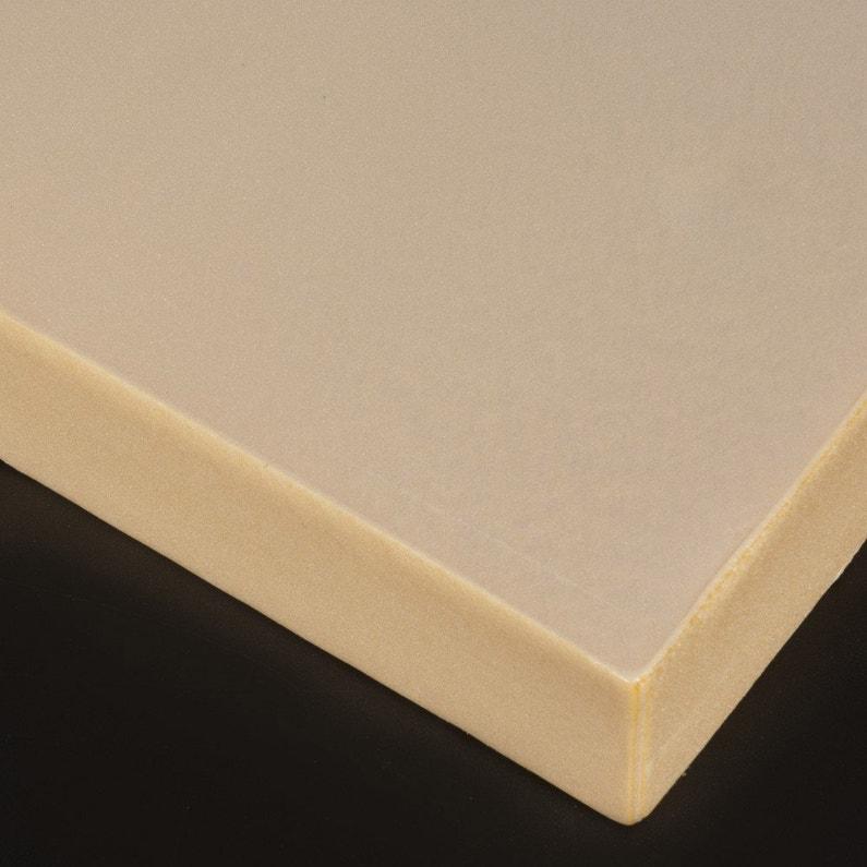 Plaque Polystyrène Verte Effet Lisse Mat L60 X L100 Cm Ep30 Mm