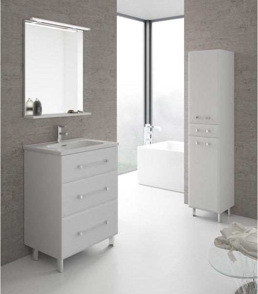 Meuble de salle de bains simple vasque, Opale | Leroy Merlin