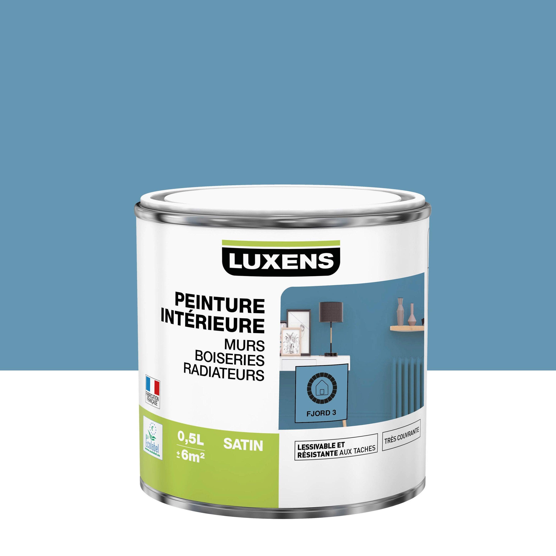 Peinture, mur, boiserie, radiateur, Multisupports LUXENS, fjord 3, satiné, 0.5 l