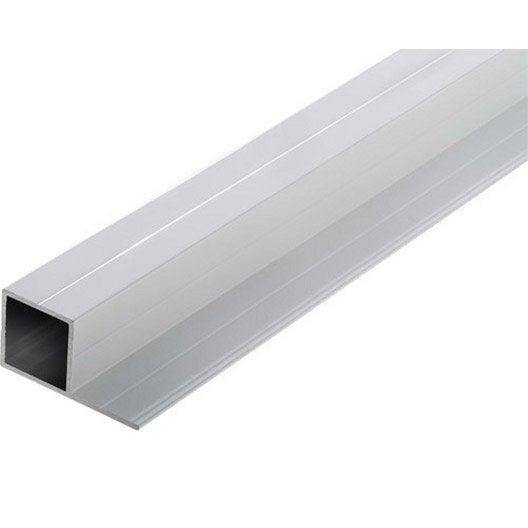 tube carr aluminium poxy l 1 m x l cm x h cm leroy merlin. Black Bedroom Furniture Sets. Home Design Ideas