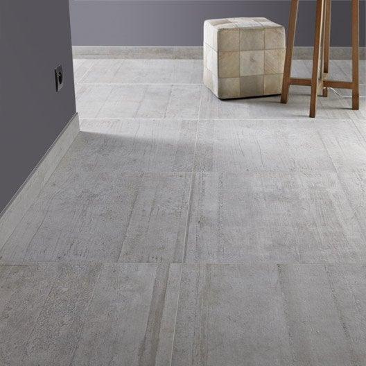 Carrelage sol et mur gris clair effet b ton industry for Carrelage interieur 60 x 60