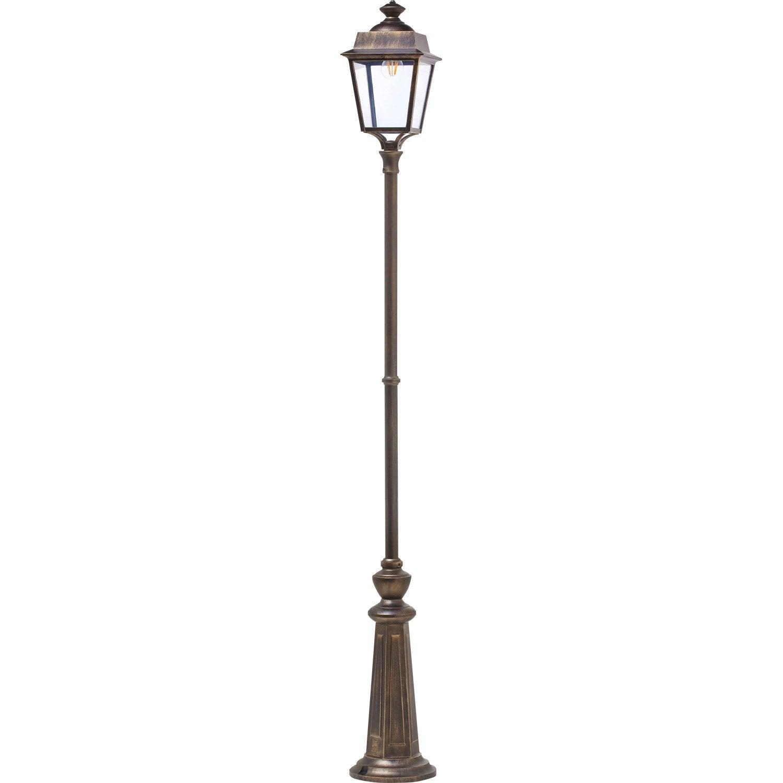 lampadaire ext rieur place des vosges e27 60 w noir or roger pradier leroy merlin. Black Bedroom Furniture Sets. Home Design Ideas