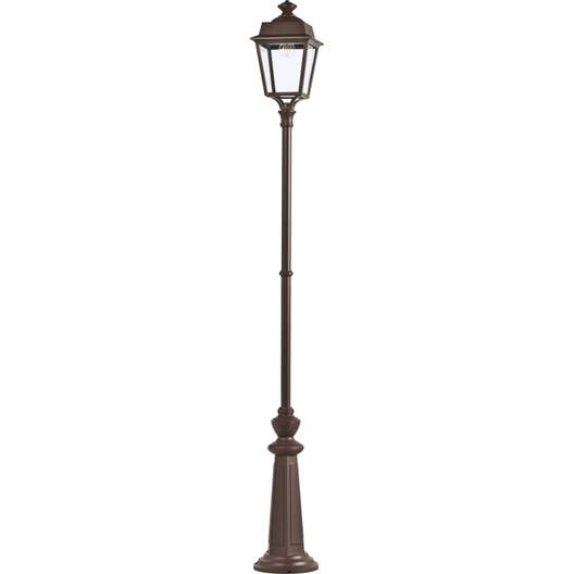 lampadaire ext rieur place des vosges e27 60 w rouille roger pradier leroy merlin. Black Bedroom Furniture Sets. Home Design Ideas