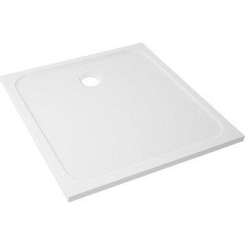 Receveur de douche carré l.90 x l.90 cm, résine blanc Mila
