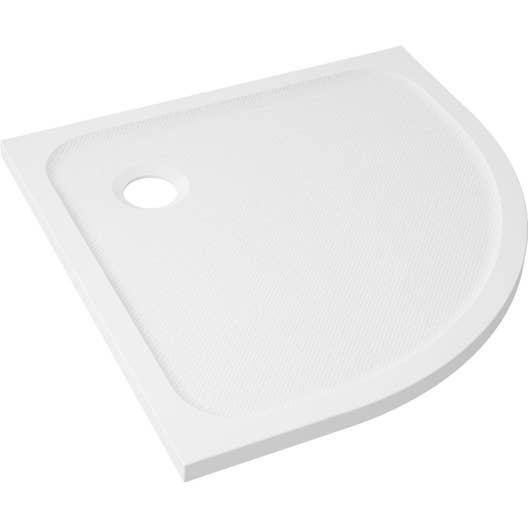 receveur de douche 1 4 de cercle x cm r sine blanc mila leroy merlin. Black Bedroom Furniture Sets. Home Design Ideas