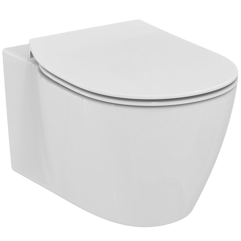 Pack wc suspendu b ti sol ideal standard idealsmart aquablade leroy merlin - Wc suspendu ideal standard ...