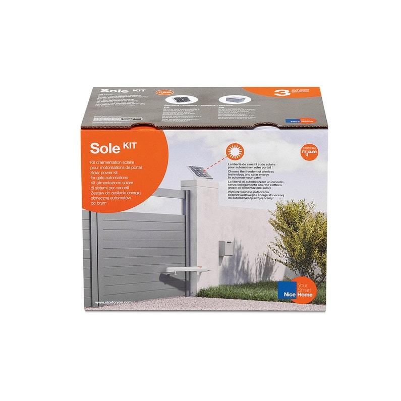 ... Kit d alimentation solaire pour motorisation de portail, NICE HOME  Solekit ... e03ac7f1c70e
