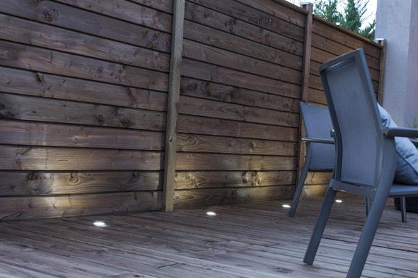 Clôture à composer bois Douglas brun foncé | Leroy Merlin