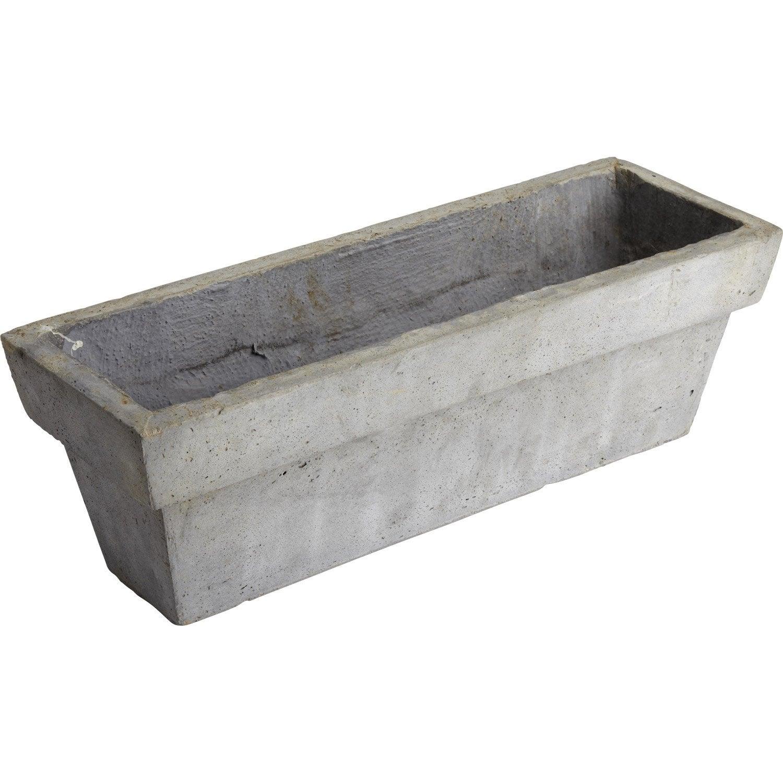jardini re fibre x x cm gris ciment leroy. Black Bedroom Furniture Sets. Home Design Ideas