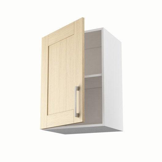 Meuble de cuisine haut ch ne clair 1 porte cyclone x - Meuble haut cuisine largeur 50 cm ...