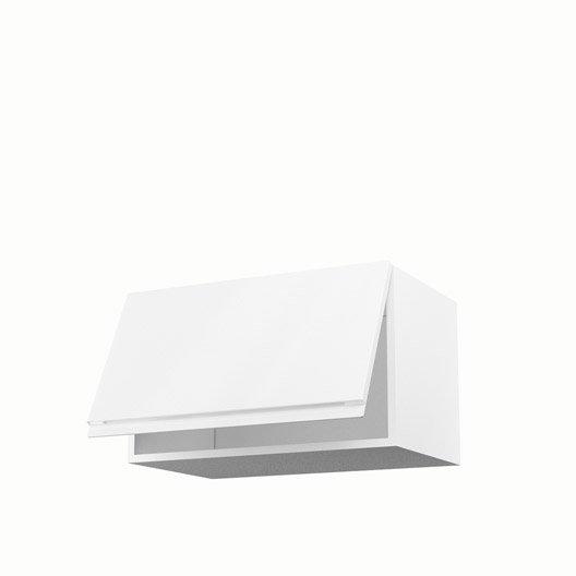 Meuble de cuisine haut blanc 1 porte Graphic H.35 x l.60 x P.35 cm ...