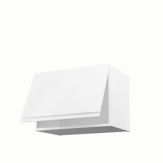 Meuble de cuisine haut sur hotte blanc 1 porte graphic h for Meuble haut de cuisine blanc