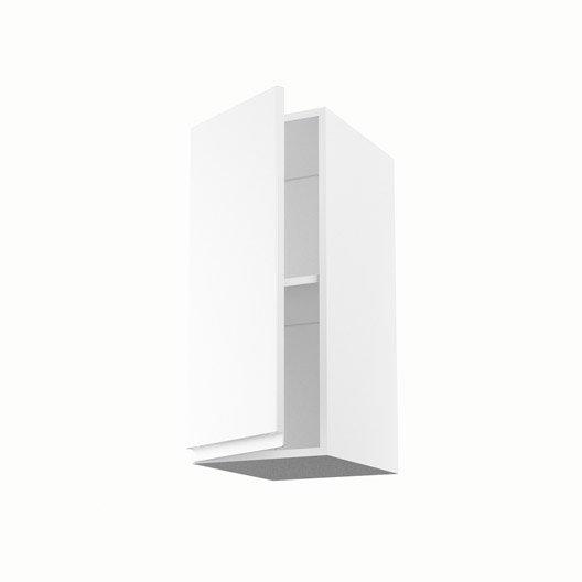 Meuble de cuisine haut blanc 1 porte graphic x x for Caisson cuisine 30 x 70