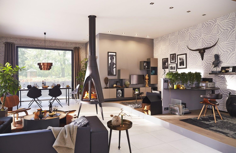 un po le bois sur lev et m lang aux carreaux de ciment leroy merlin. Black Bedroom Furniture Sets. Home Design Ideas