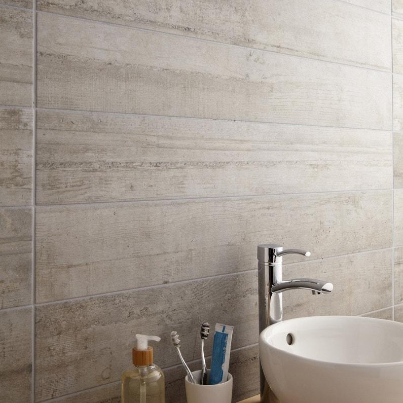 Carrelage sol et mur gris clair effet béton Industry l.15 x L.100 cm ...
